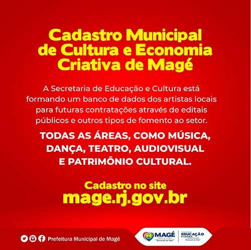 Cadastro Municipal de Cultura e Economia Criativa de Magé